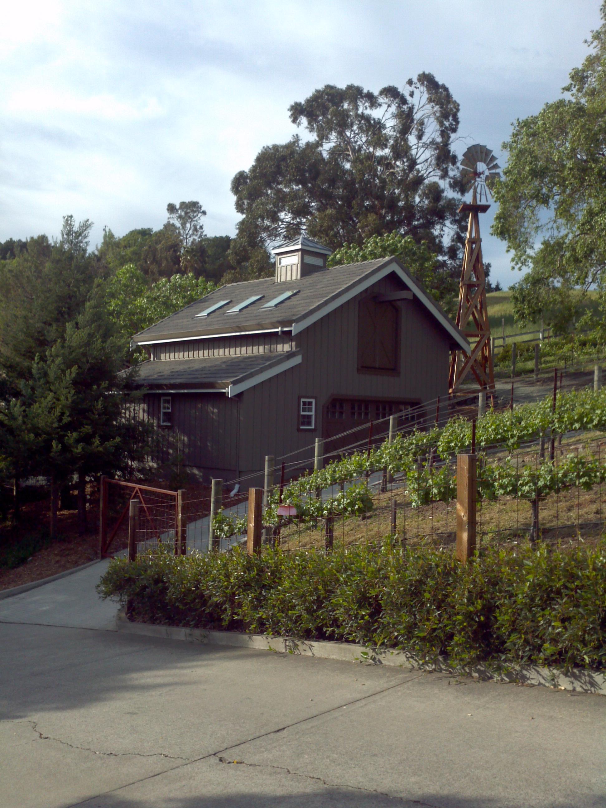Barn at Reliez Valley Vineyards