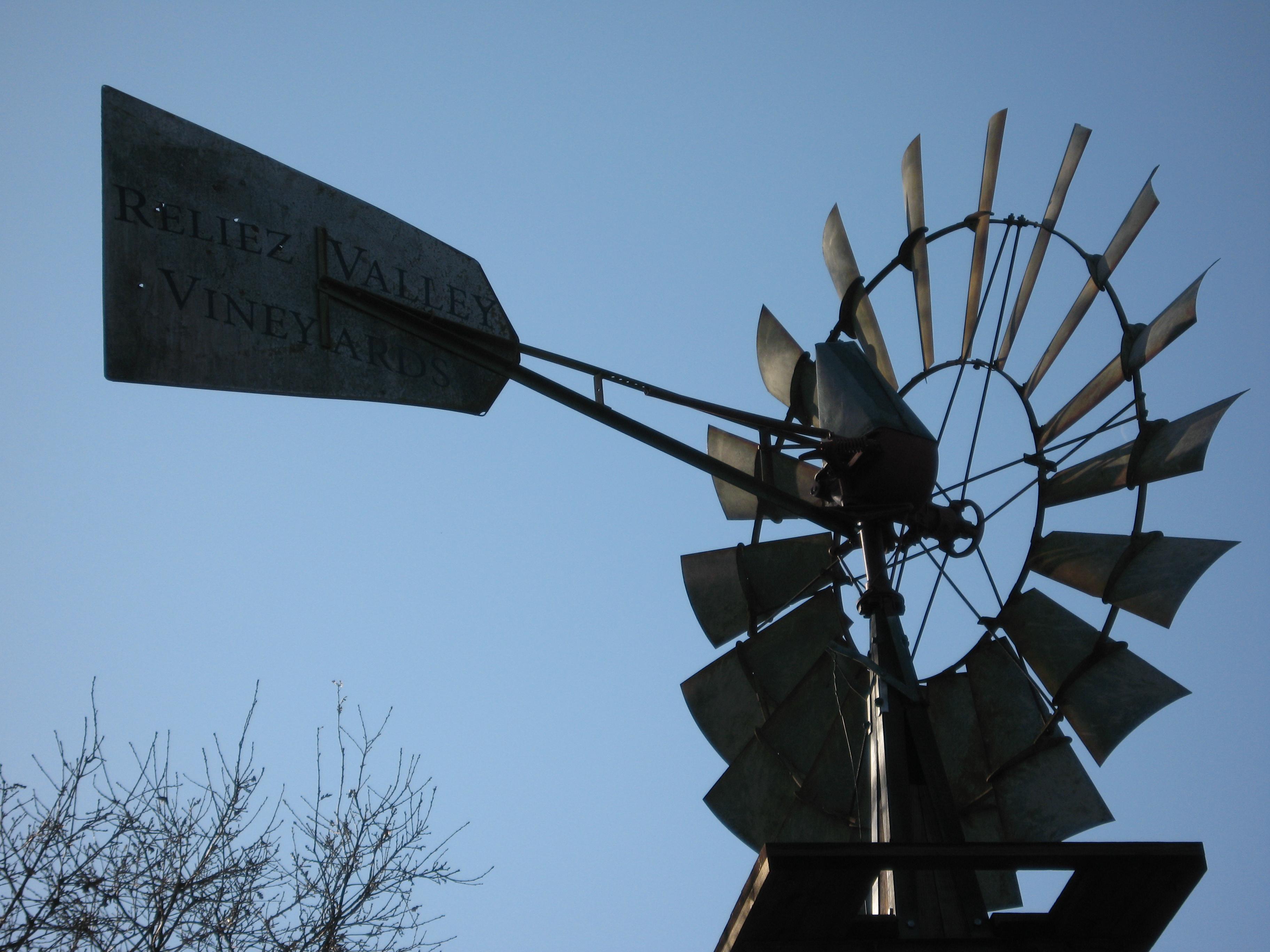 Windmill at Reliez Valley Vineyards